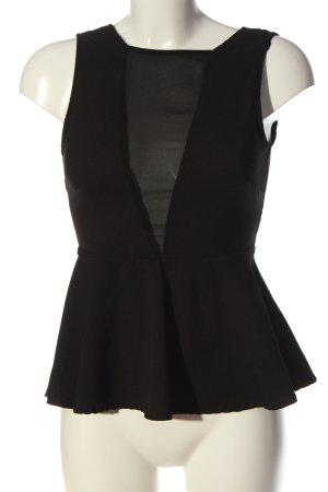 Vera & Lucy ärmellose Bluse schwarz Elegant