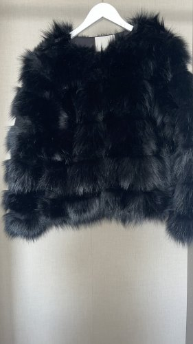 Vera & Lucy Fake Fur Jacket black