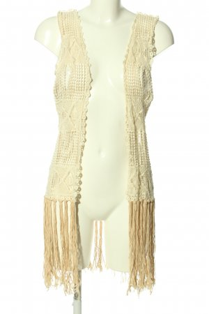 Vera & Lucy Long Knitted Vest natural white casual look
