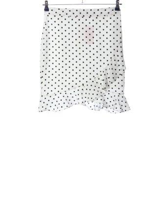 Vera & Lucy Mini-jupe blanc-noir imprimé allover style décontracté