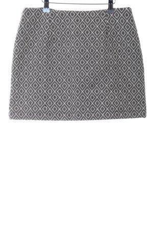 Vera & Lucy Mini-jupe noir-blanc motif abstrait style décontracté