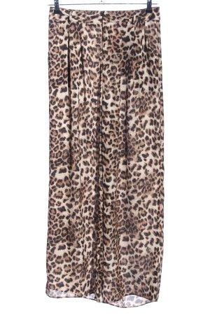 Vera & Lucy Pantalón de campana estampado de leopardo look casual