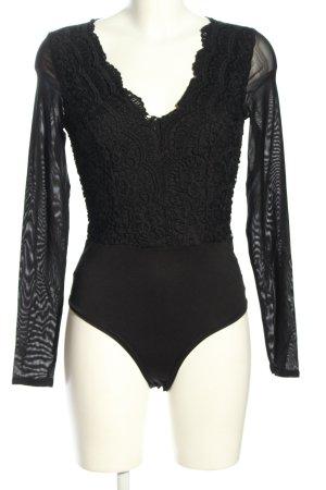 Vera & Lucy Shirt Body black extravagant style
