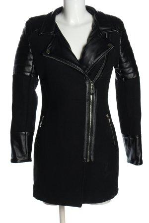Vera & Lucy Wollen jas zwart casual uitstraling