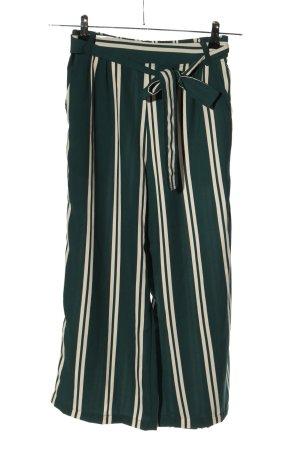 Vera Moda Pantalón pirata verde-blanco estampado a rayas look casual