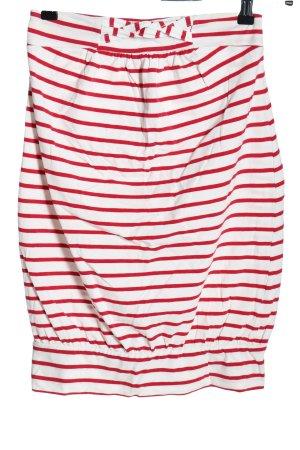 Vera Moda Ballonrok wit-rood gestreept patroon casual uitstraling