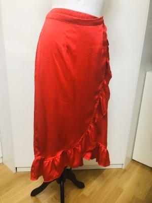 Falda cruzada rojo