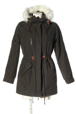 Vera Moda Płaszcz z kapturem khaki W stylu casual