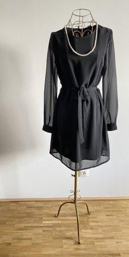 Vera Moda Vestido de chifón negro