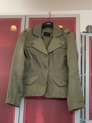Vero Moda Leather Blazer olive green