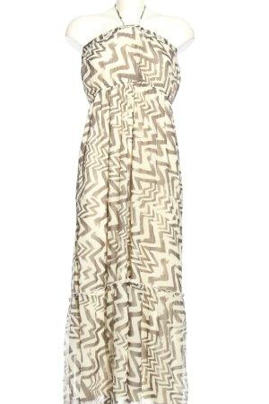 Vera Moda Halter Dress natural white-brown allover print elegant