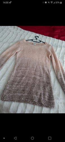 Vera Moda Vestido de cuero color rosa dorado-gris claro