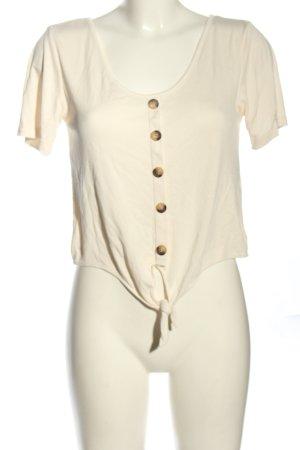Vera Moda Prążkowana koszulka kremowy W stylu casual