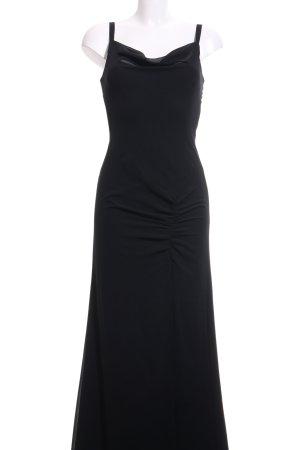 Vera Mont Vestido de noche negro elegante