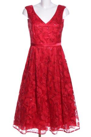 Vera Mont Abendkleid rot Allover-Druck Elegant