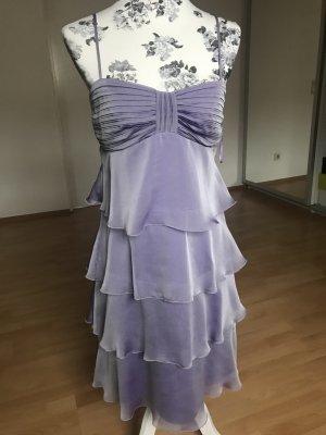 Vera Mont Abendkleid Abiball fliederfarben lila Volants mit Stola Elegant