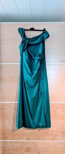 Vera Mont Abendkleid Maxi petrol grün asymmetrisch Größe 44