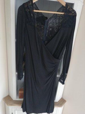 Vera Mont Abendkleid schwarz mit Spitze