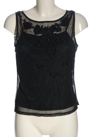 Vera Mont ärmellose Bluse schwarz Elegant