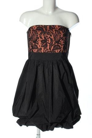 Vera Mont Abito a palloncino nero-arancione chiaro elegante
