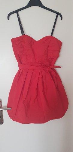 Vera Mont Sukienka z rękawem balonowym czerwony