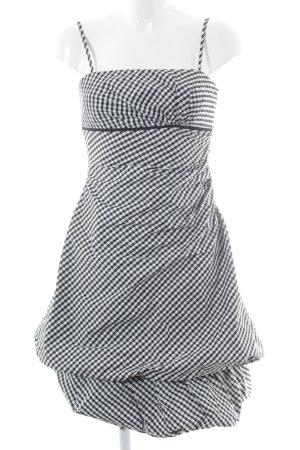 Vera Mont Ballonkleid schwarz-weiß Karomuster Casual-Look