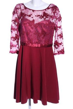 Vera Mont Vestido de cóctel rojo estampado floral look casual
