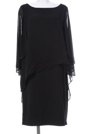 Vera Mont Vestido de cóctel negro elegante