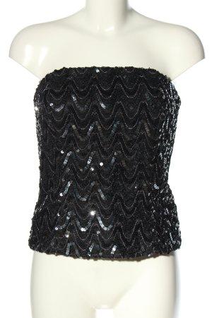 Vera Mont Corsage topje zwart-zilver glitter-achtig