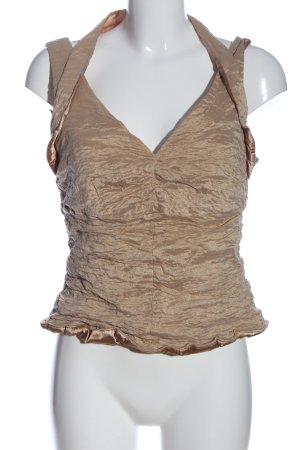 Vera Mont Kreukelblouse bruin elegant