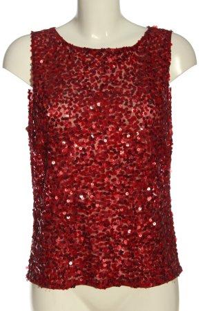 Vera Mont Blusa brillante rosso effetto bagnato