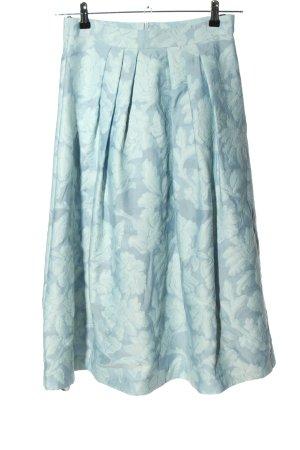 Vera Mont Gonna a campana blu-bianco motivo floreale stile casual