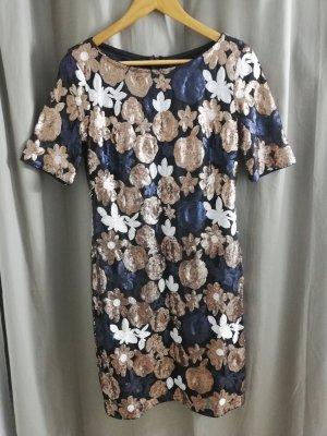 Vera Mont Kleid 38 NEU ohne Eikett Pailetten schwarz kurzarm gr.M