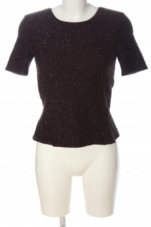 Vera Mont Jersey de manga corta marrón-color plata moteado elegante