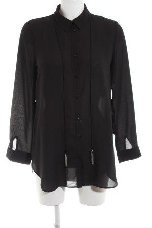 Vera Mont Langarm-Bluse schwarz Casual-Look