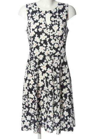 Vera Mont Midikleid weiß-schwarz abstraktes Muster Casual-Look