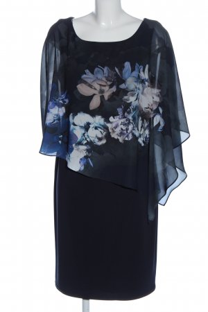 Vera Mont Blusenkleid blau Blumenmuster Elegant
