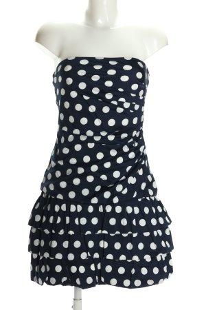 Vera Mont Minikleid schwarz-weiß Allover-Druck Elegant