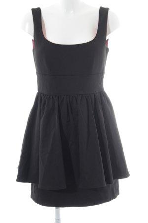 Vera Mont Minikleid schwarz-violett klassischer Stil