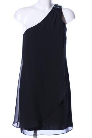 Vera Mont Robe asymétrique noir élégant