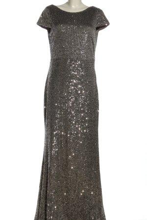 Vera Mont Vestido de lentejuelas gris claro elegante