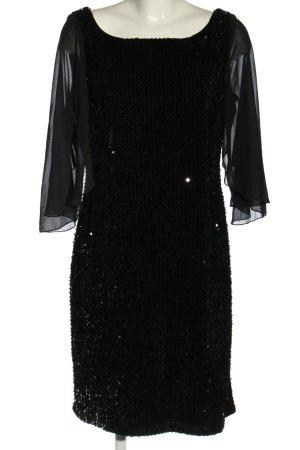 Vera Mont Vestido de lentejuelas negro elegante