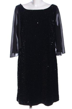 Vera Mont Sequin Dress black wet-look