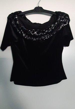 Vera Mont Carmen shirt zwart-zilver