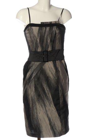 Vera Mont Falda estilo lápiz negro-crema estampado con diseño abstracto