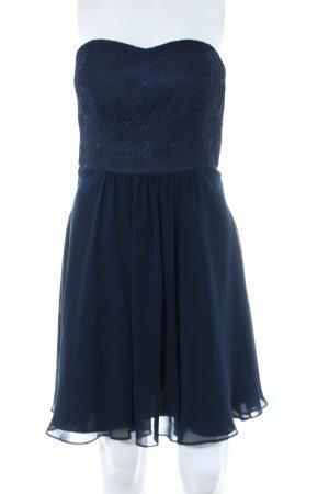 Vera Mont schulterfreies Kleid blau Elegant