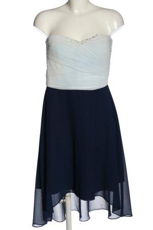 Vera Mont schulterfreies Kleid weiß-blau Elegant