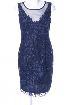 Vera Mont Spitzenkleid blau abstraktes Muster Elegant