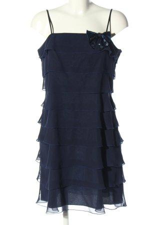 Vera Mont Trägerkleid blau Webmuster Elegant