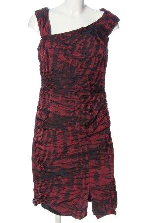 Vera Mont Blusenkleid rot-schwarz Allover-Druck Elegant